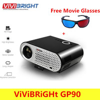 ViViBRiGHt GP90 Video Projector Home 3200 Lumens 1280 X 800 Support Full HD 1080P Video WXGA