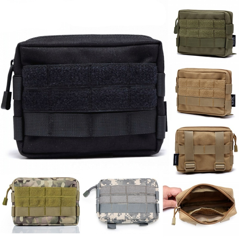 CQC Outdoor Military <font><b>Molle</b></font> Utility EDC Tool Waist Pack <font><b>Tactical</b></font> Medical First Aid Pouch Phone Holder Case Hunting Bag image