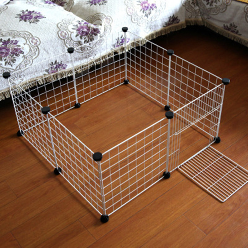 Us 28 05 30 Off Diy Pet Playpen Iron Fence Collapsible Puppy Cat Crates Kennel House Rabbits Guinea Pig Small Animals Exercise Training Cage In