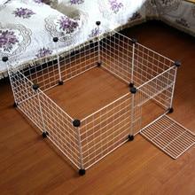 Diy 애완 동물 playpen 철 울타리 접을 수있는 강아지 고양이 상자 개집 집 토끼 기니 돼지 작은 동물 운동 훈련 케이지