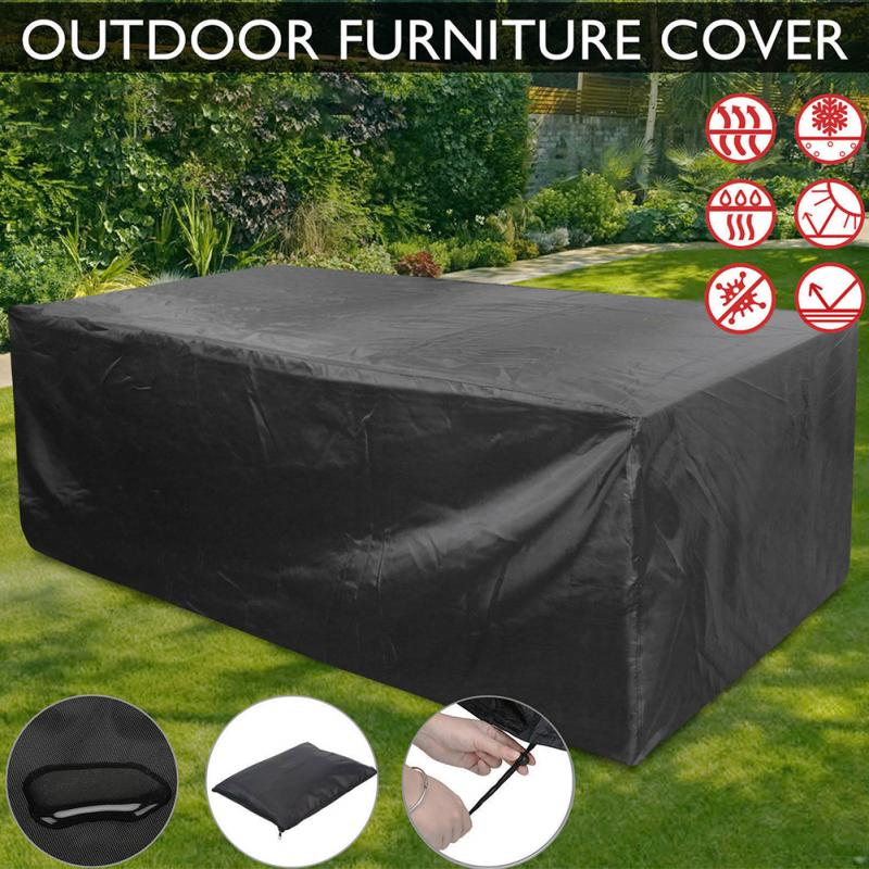 Best-selling Europe And America Ebey Hot Black Outdoor Garden Furniture Cover Garden Dustproof Waterproof Table Cover