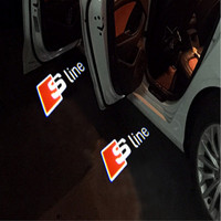 JURUS A Pair Led Car Door Welcome Light Logo Laser Projector Light For Audi Light A1