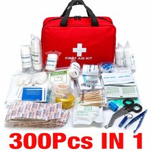 300Pcs Tragbare First Aid Kit Reise Outdoor Camping Hause Haushalt Notfall Tasche Pflaster Bandage Behandlung Pack Überleben Kit