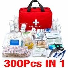300 pçs kit de primeiros socorros portátil viagem acampamento ao ar livre casa emergência saco bandage aid tratamento pacote kit sobrevivência