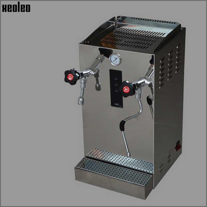 Xeoleo Automatic Milk Foam Machine Commercial Steam Water Boiler Make Espresso Coffee Stainless Steel Teapresso Machine
