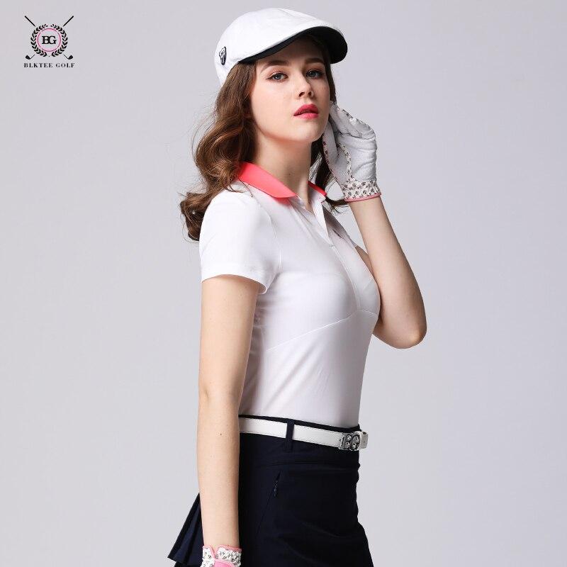 Signore camicie da golf sport vestiti da golf Maglietta del bicchierino-manicotto delle donne ad asciugatura rapida elastico maglia sottile delle donne topSignore camicie da golf sport vestiti da golf Maglietta del bicchierino-manicotto delle donne ad asciugatura rapida elastico maglia sottile delle donne top