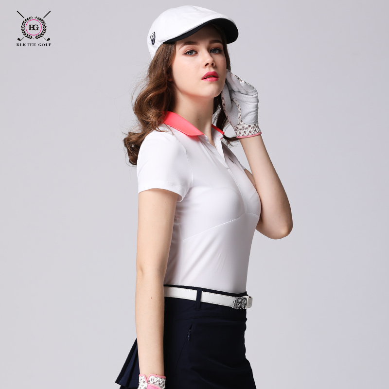 ladies golf shirts sport clothes womens short-sleeve T-shirt golf quick-drying elastic jersey womens slim tops ladies golf shirts sport clothes womens short-sleeve T-shirt golf quick-drying elastic jersey womens slim tops