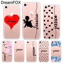 Fashion Custom Your Name DIY Design Case Cover For iPhone 11 Pro XR X XS Max 5 5S SE 6 6s 7 8 Plus цена