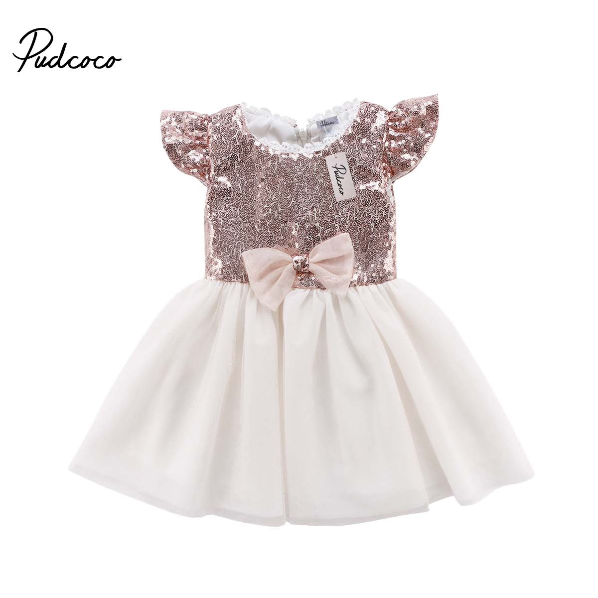 2018 Princess Girl Dress Toddler Baby Kids Girls Party Lace Tulle Dress Infant Kid Girl Sequin Dresses Bowknot Sundress effect of rosemary extracts on the growth of skin infections