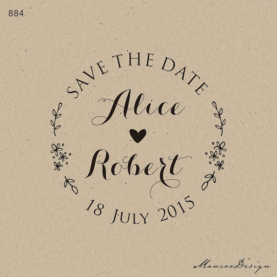 customized save the date wedding favor stamp personalized custom