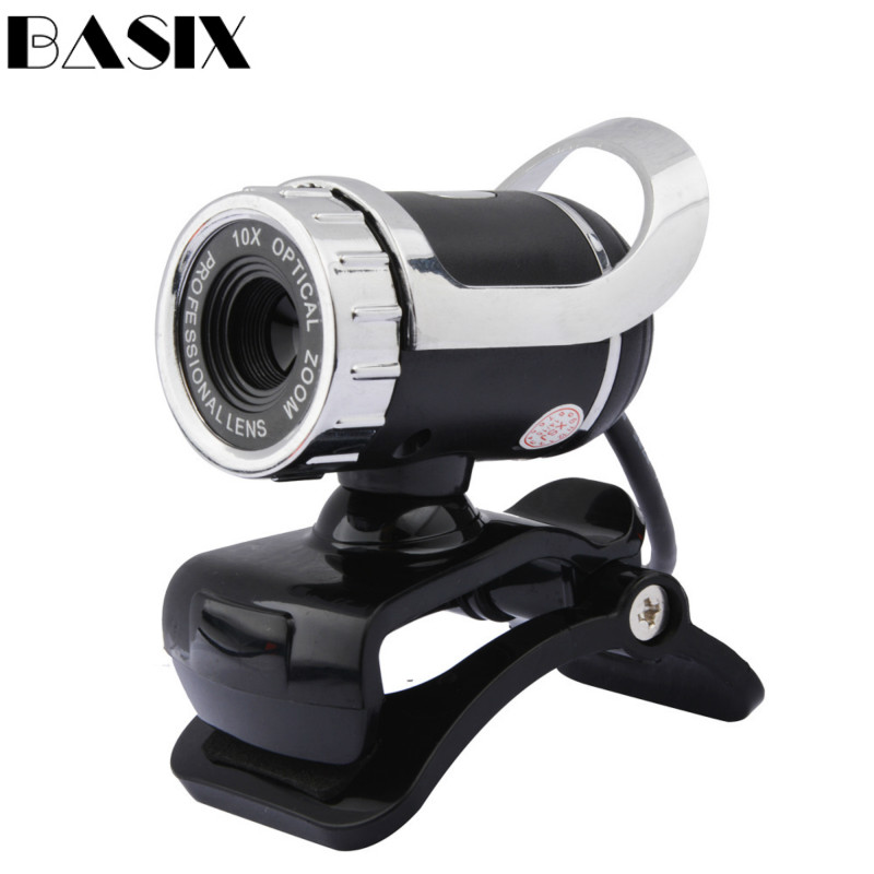 Basix WEB Webcam High Definition 360 Degree USB Camera Web Cam with MIC Clip-on webcam For Skype Computer camera