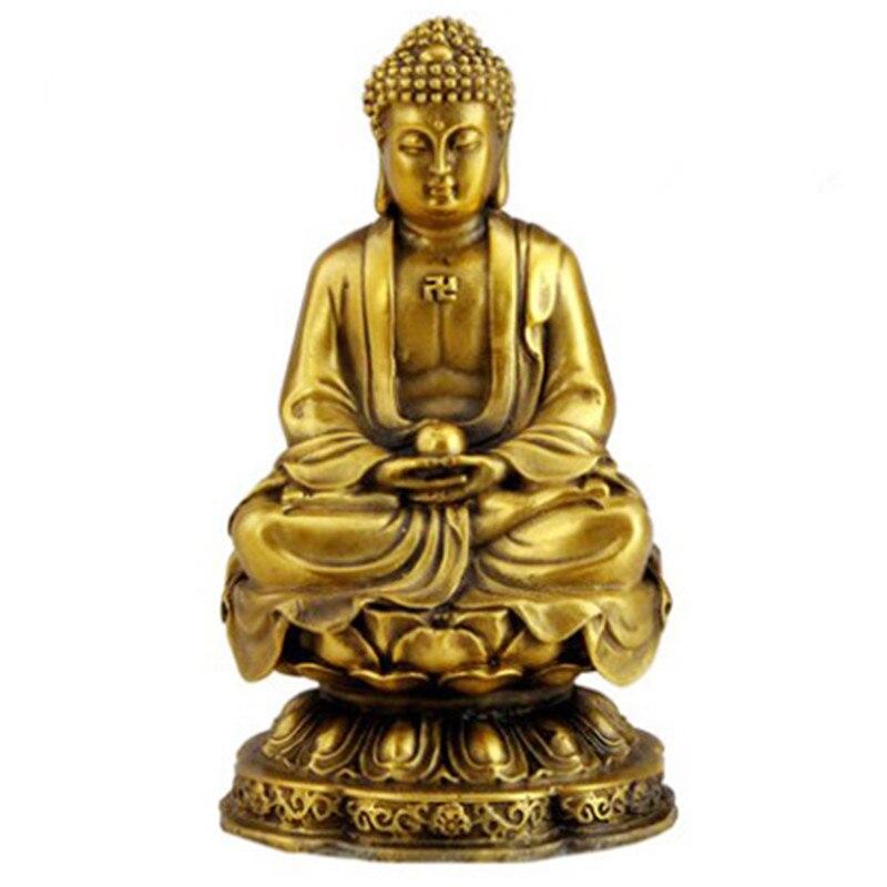 Buda Sakyamuni artesanía de muebles de cobre puro Guanyin estatua - Decoración del hogar