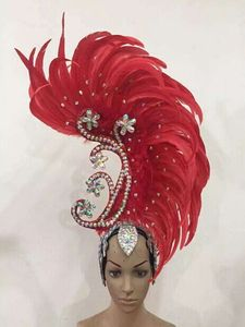Image 2 - Feather clothing Stage performance catwalk carnival Headdress flower pubs party Mens wear womens clothing