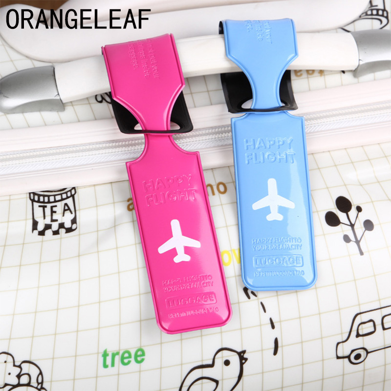 PVC Travel Luggage Cover ID Name Address Identify Tags Label Straps Suitcase Baggage Boarding Tags Airplane Travel Accessories