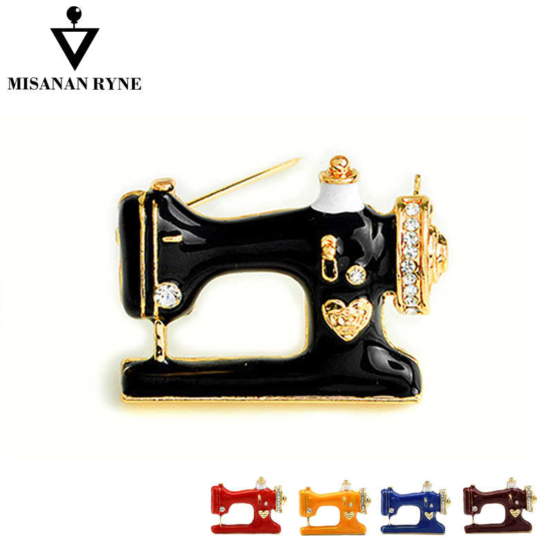 MISANANRYNE Hot Sale Women Men Jewelry Fashion Brooches Pins Palace Sewing Machine 2018 New Arrival High Quality Brooches Pins