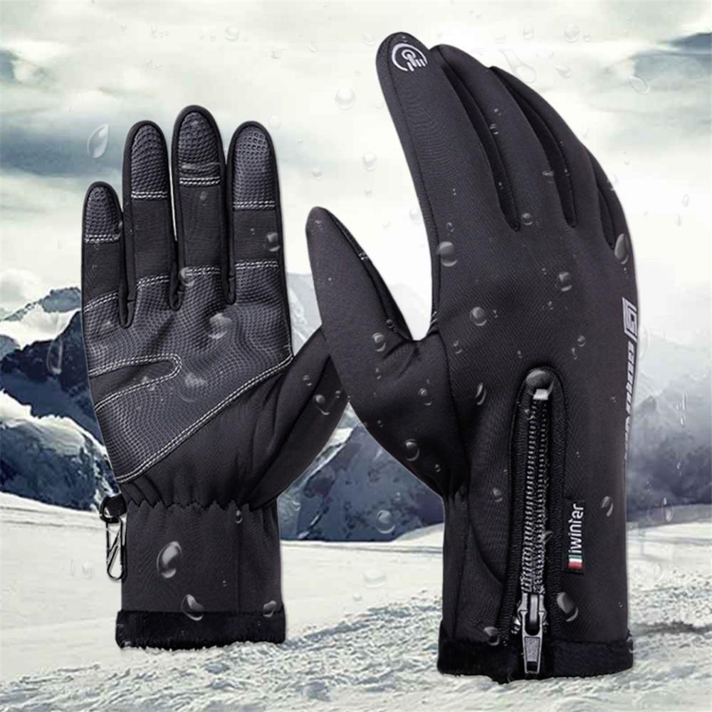 Thermal Skiing Gloves Winter Fleece Waterproof Ski Gloves Man Women Motorcycle Snow Snowboard Sportswear Audlt Kid Hand