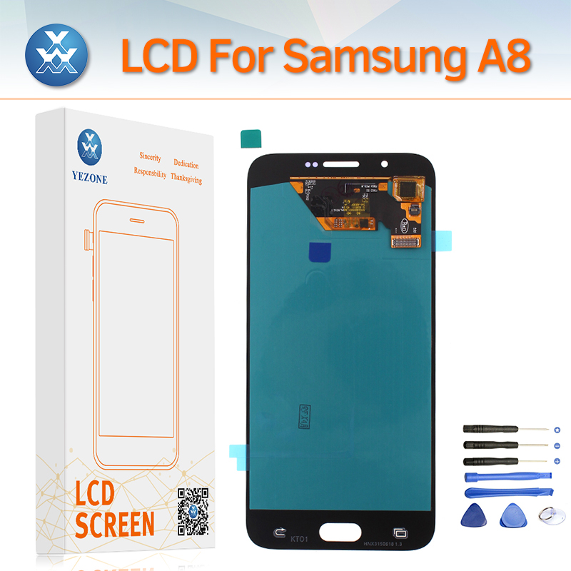 Super AMOLED Screen for Samsung Galaxy A8 2015 A800 A800F LCD Display Touch Digitizer Assembly A8000 Screen Replacement+Tools