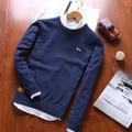 2016 мужчин пуловер щенок мужская Осень и Весна О-Образным Вырезом хлопок Свитера Трикотажные Пуловеры Мягкий Трикотаж Свитер