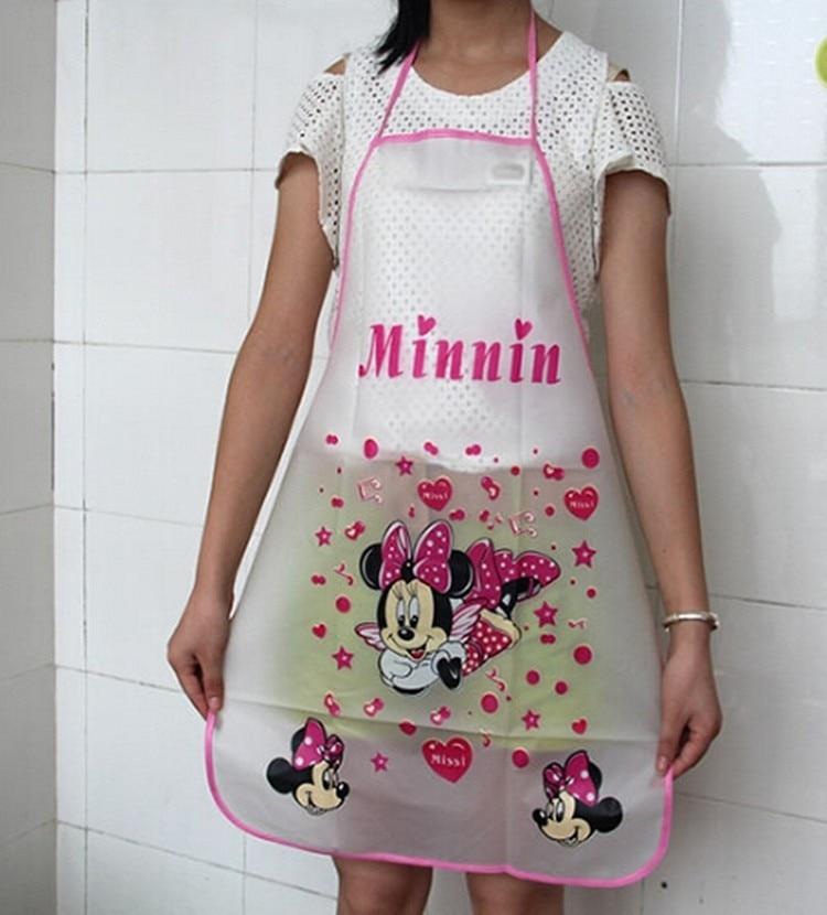 cute kitchen aprons aid walmart for woman 2pcs lot cartoon apron avental hello 7 5