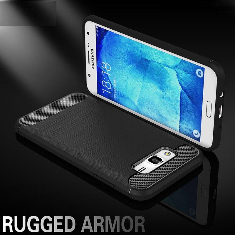 Case For Samsung Galaxy J5 Cover Shockproof Silicone Brushed Style For Samsung Galaxy J5 Case For Samsung j5 2015 j500 Bag