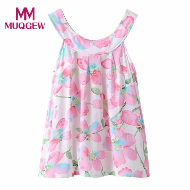 1064f619000ab MUQGEW summer dress 2018 girl princess dress girl wedding girl party dress  cotton Fashion cute toddler dresses Pink #6-7