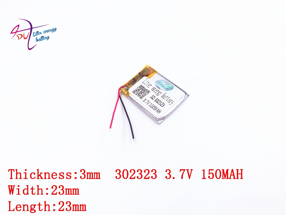 Liter energy battery 1 PCS small clip 032323 302323 3.7V 160MAH 302424 <font><b>302525</b></font> BT3030 Bluetooth headset battery image