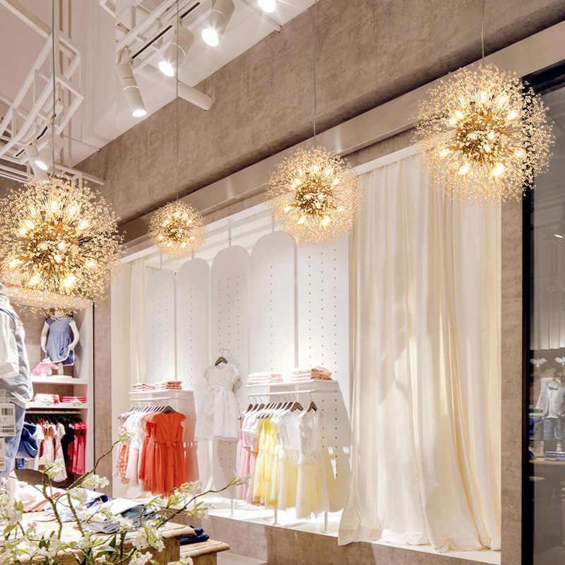 Художественные Хрустальные подвесные светильники Spark Ball Gold/Silver body Одуванчик для столовой гостиной бар индивидуальный светильник