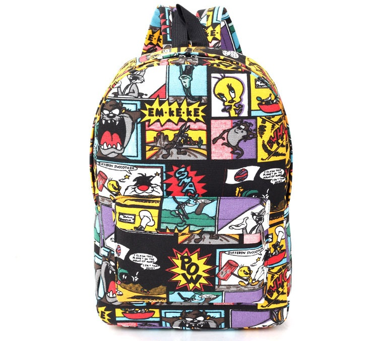 New Graffiti Canvas Backpack Students School Bag For Teenage Girls Boys Backpacks Bags Cartoon Printing Rucksack Street Escolar