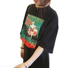 tshirt women 2017 korean harajuku shirt women tops new print casual top summer kawaii cute print princess t shirt women T shirts