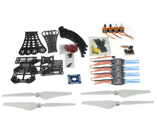 DIY RC Drone Quadrocopter X4M380L Frame Kit QQ Super Motor ESC Props F14893-G diy rc drone quadrocopter rtf with x4m380l frame kit qq super fs i6 tx f14893 h