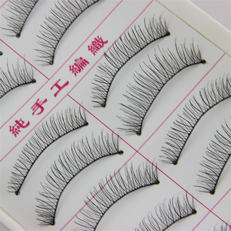 Follome 10 Pairs False Eyelashes Soft Cruelty Volume Cross Long Lasting Nature Long Makeup Fake Eye Lashes Accessories