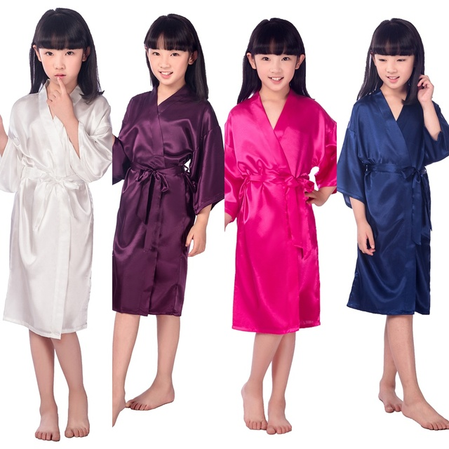 2ca61e2a8 E16811 Kids Flower Girl Wedding Stain robes NightGown Monogrammed ...