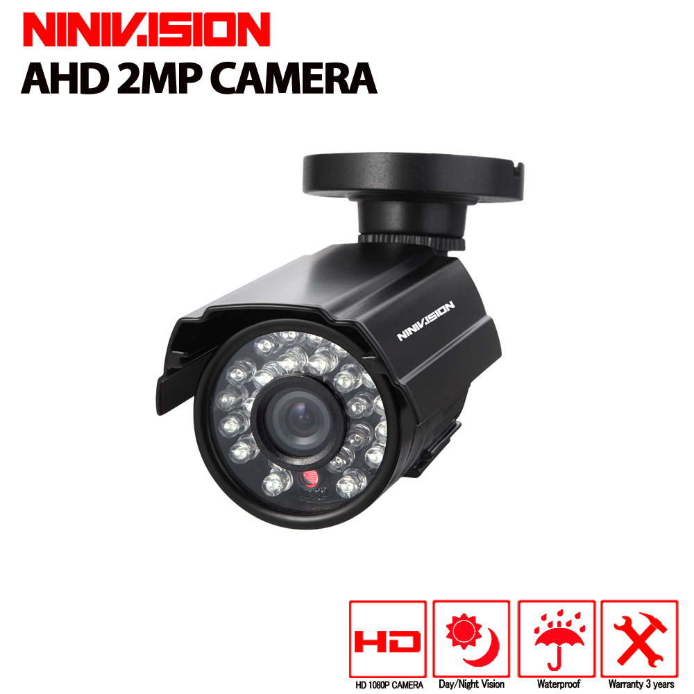 Metal Waterproof Outdoor Bullet AHD Camera 2.0MP 1080P Security Camera CCTV 24PCS LED Board ONVIF Camera HD nightvision camera ...