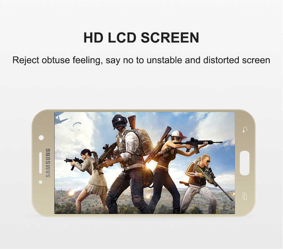 100% Test 5.2'' For SAMSUNG GALAXY A5 2017 A520 SM-A520F LCD Display Touch Screen Digitizer LCD A5 2017 Assembly LCD