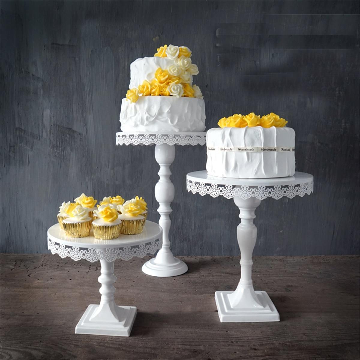 Décoration de mariage gâteau Stand avec cristaux Cupcake Dessert Stand fête d'anniversaire présentoir gâteau décoration outils blanc