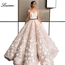 Arabski dubaj różowy Sexy Celebrity sukienki z kwiatami bez ramiączek bez rękawów zamek błyskawiczny z powrotem czerwony dywan suknie вечернее платье
