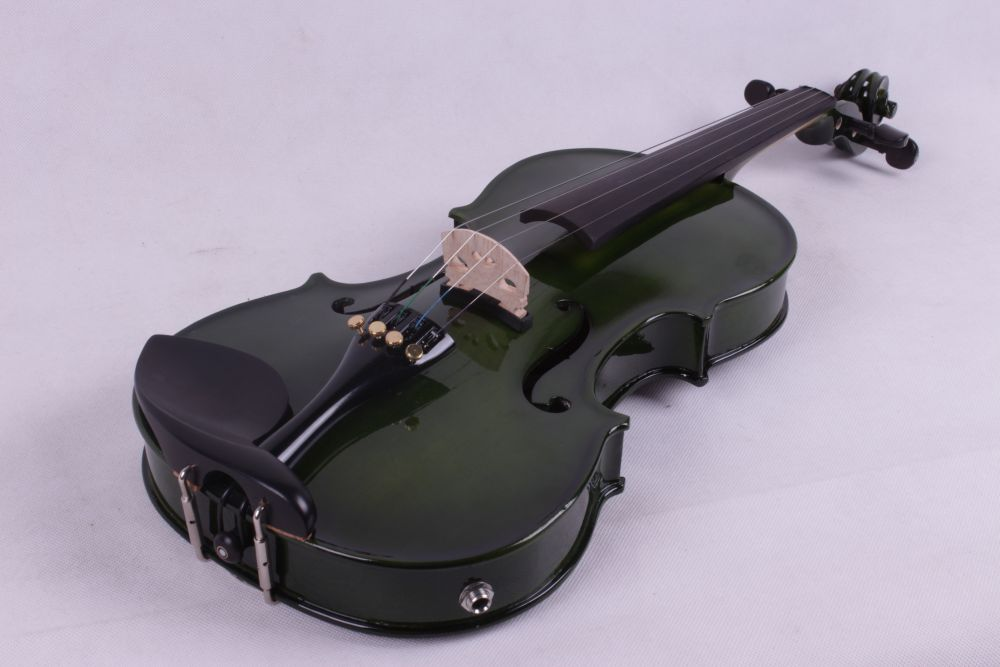dark green color  4   string 4/4 Violin Electric Violin Acoustic Violin Maple wood Spruce wood Big jack    color анданте кукольный театр красная шапочка