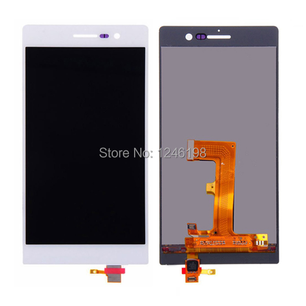 High Quality Full LCD Display Touch Screen Digitizer Assembly For Huawei Ascend P7 Replacement Repair Parts White Free shipping high quality n9300 full lcd 5 7 lcd