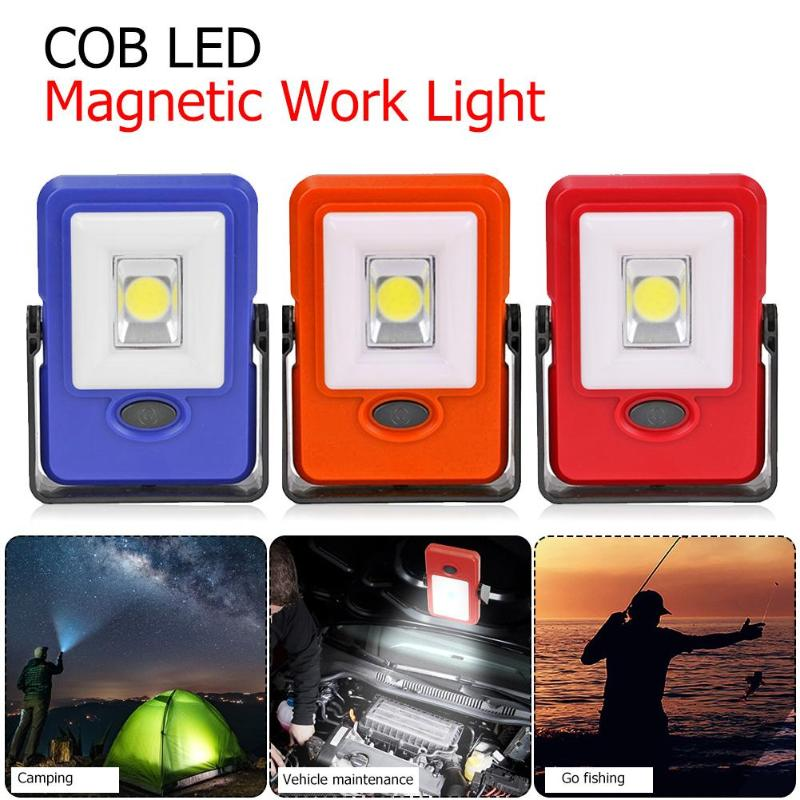 Mini COB LED Magnetic Work Light USB Rechargeable Emergency Inspection Lamp Camping Tent Lantern With Hook Magnet