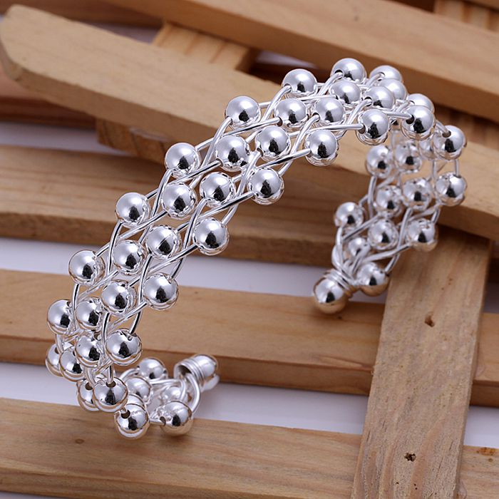 Pulseira de prata banhado a pulseira de prata moda jóias pulseira roxos  jóias por atacado frete grátis mvnc LB022 fc7bcf3a4493e