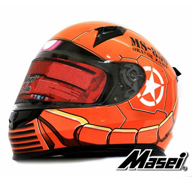 masei 850 orange zaku full face helmet motorcycle helmet