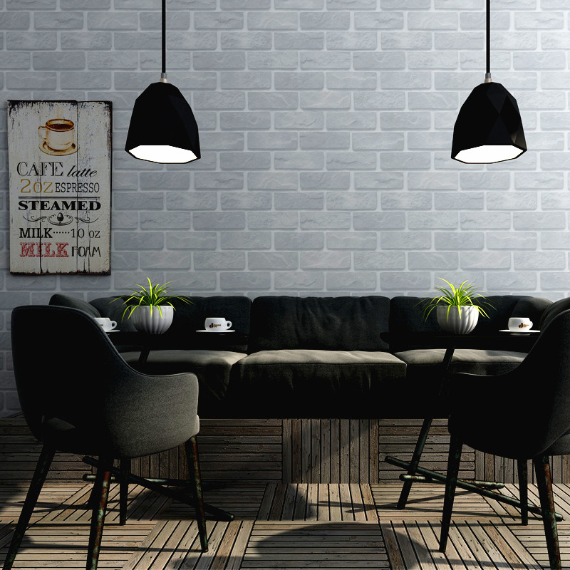 Купить с кэшбэком Retro Nostalgic 3D Brick Wallpaper Home Barber Shop Industrial Wind Background Imitation Red Gray Wall Paper Roll