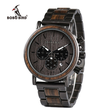 BOBO BIRD Wood Watch Men Stopwatch erkek kol saati Wooden Wristwatches Male Show Date Create Gift  saat erkek relogio masculino цены онлайн