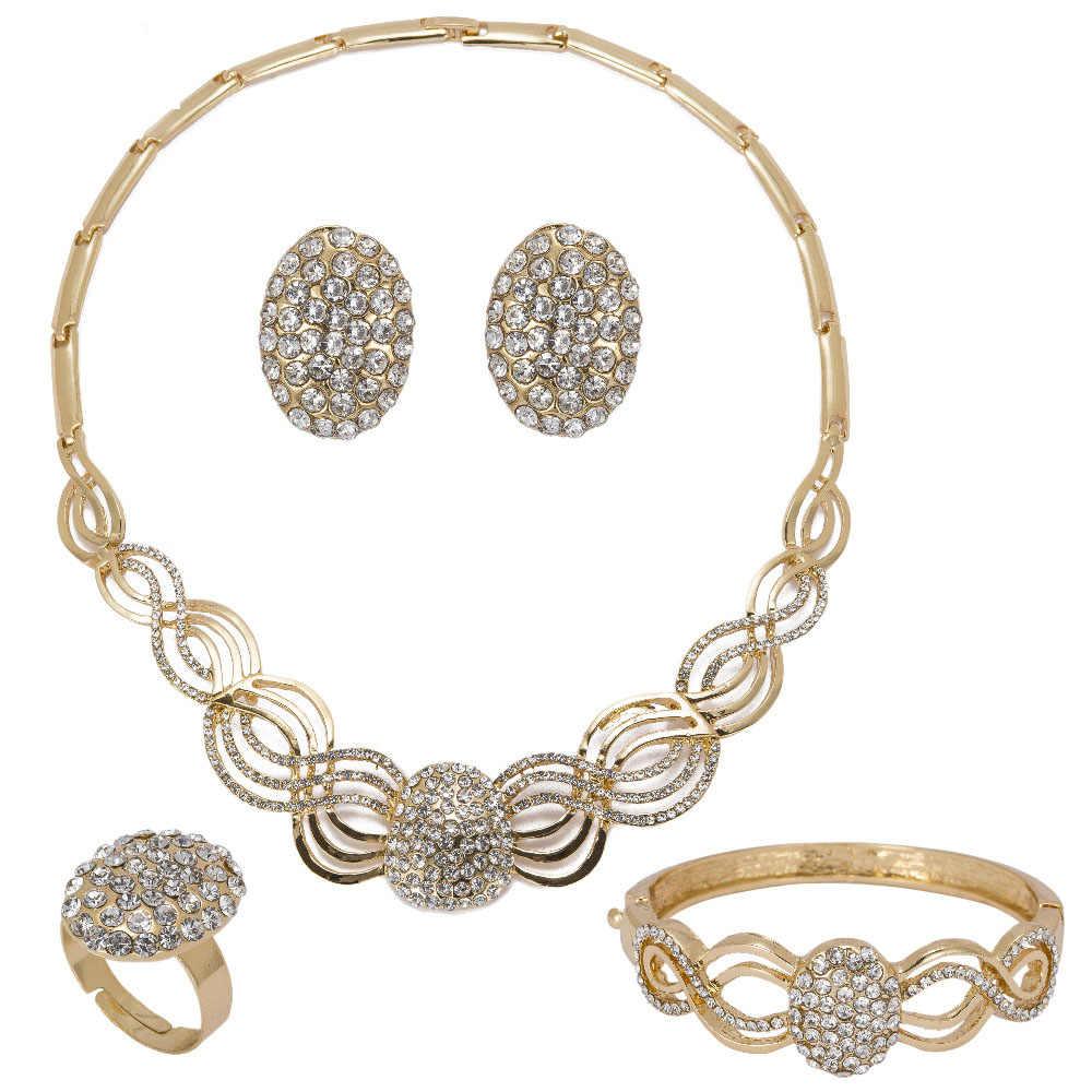 MUKUN Nigeria Afrikanische Perlen Schmuck Sets Für Frauen Hochzeit Zubehör Partei Nachgeahmt Kristall Anhänger Halskette set Zubehör