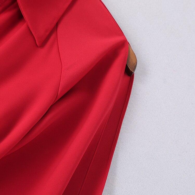 Robes Fendu Col Piste Turn Longue Ceinturé Longues Supérieure Manches Femmes Qualité down Robe Décontracté Maxi Chemise À 2019 Np0236a Txw8zq