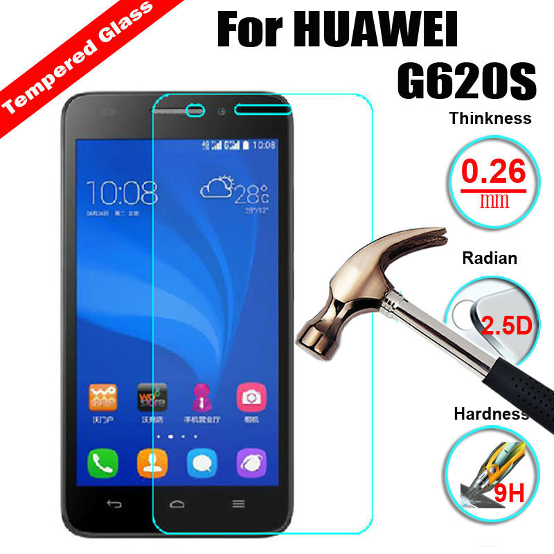 XSKEMP Anti Scratch Tempered Glass For Huawei Ascend G620S 2 5D 9H 0 3mm  Anti Shatter Ultra Thin