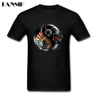 Classic Fit Daft Punk Yin Yang Tshirt Mens Short Sleeve O Neck Men T Shirt Brand