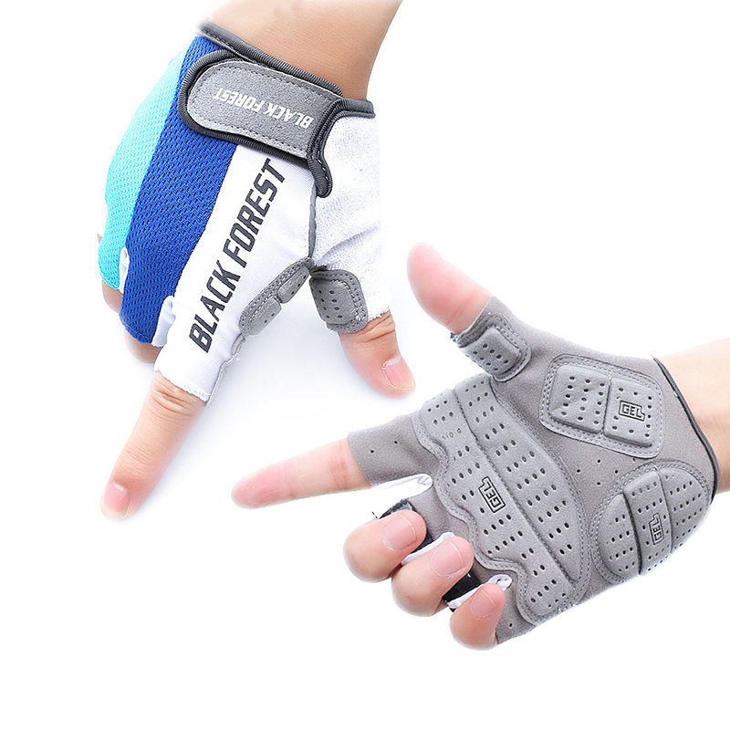 2017 New Half Finger Cycling Mittens Breathable Anti-slip Unisex MTB Bike Bicycle Fitness Gloves Sports Nutrition Luvas
