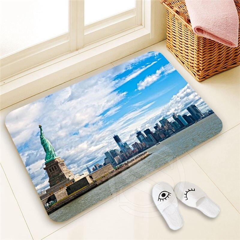 Fashion boutique Custom Statue of Liberty Doormat Home Decor 100% Polyester Pattern Door mat Floor Mat foot pad SQ00722-@H0695