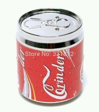 red pop can grinder smoking pipe metal click n vape 4 layer rasta  50*56cm as Pipe accessary for men to smoke